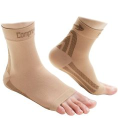 78f769f2387b Foot Sleeves 1 Pair Nude M Best Plantar Fasciitis Compression for Men Women  Heel Arch Support Ankle Sock     You can find more details by visiting the  image ...