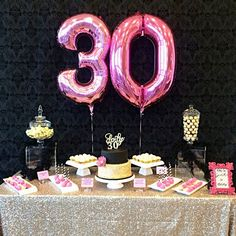 Party birthday theme for adults women ideas 30th Party, 30th Birthday Parties, Birthday Celebration, Girl Birthday, Surprise Birthday, Women Birthday, Happy Birthday, Birthday Party Decorations For Adults, 30th Birthday Ideas For Girls