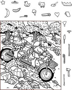 Hidden Picture Games, Hidden Picture Puzzles, Hidden Object Puzzles, Hidden Objects, Coloring Pages For Kids, Coloring Books, Hidden Pictures Printables, Highlights Hidden Pictures, German Language Learning