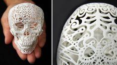 Josh Harker 3D Printed Filligree Skull