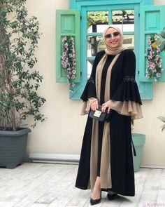 Burka Fashion, Modest Fashion Hijab, Modesty Fashion, Muslim Fashion, Hijab Fashion Inspiration, Mode Inspiration, Estilo Abaya, Mode Kimono, Abaya Designs