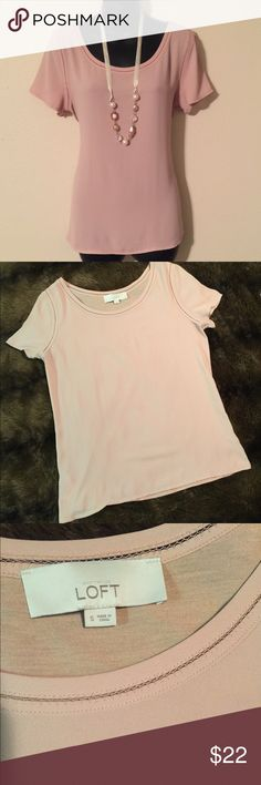 Ann Taylor Loft Blouse Pink, Short Sleeve, Ann Taylor Loft, Blouse. Lightweight and can be paired with jeans or dressed up with a skirt or slacks and a blazer. Excellent condition only worn once or twice. Anne Taylor Loft Tops Blouses