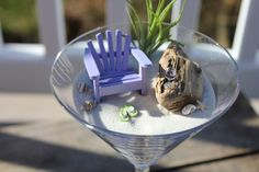 Miniature Beach Vacation in Stemware by LandscapesNMiniature, $30.00