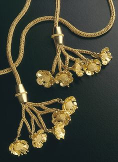 Lariat necklace by David Loepp.