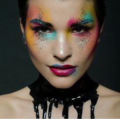 Colourful creative avant garde makeup
