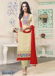 Beige Chiffon Indian Churidar Kameez With Salwar Kameez Online Shopping, Salwar Suits Online, Designer Salwar Suits, Designer Dresses, Pakistani Salwar Kameez, Churidar, Lehenga Choli, Anarkali, Kurti Designs Party Wear