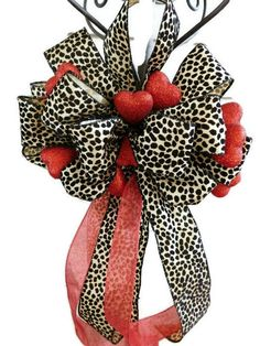 Valentines Day Wreath Bow Valentines Day by HearttoHeartNC on Etsy
