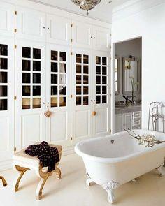 bathroom + closet...