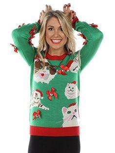 93de3627a4 86 best Cat Ugly Christmas Sweaters images