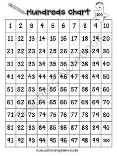 5 Games to Play With a Hundreds Chart from Rachael Parlett on TeachersNotebook.com -  (4 pages)
