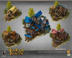 Social MMORTS - 3d modeling by Fgfactory, via Behance