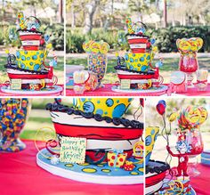 Amazing Dr. Seuss cake and sweets table