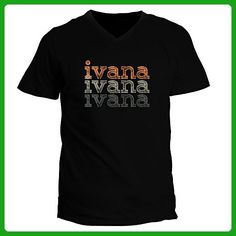 Idakoos - Ivana repeat retro - Female Names - V-Neck T-Shirt - Retro shirts (*Amazon Partner-Link)