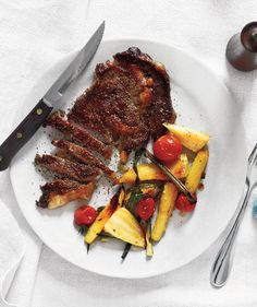 Steak with Parsnips and tomatoes