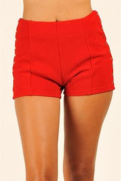 Stud Muffin Shorts - Red