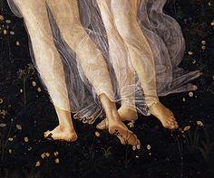 finethankyouandyou:  Primavera, ca. 1482 (detail) Sandro Botticelli Uffizi, Florence