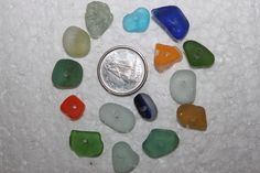 BEAUTIFUL BEACH GLASS Center Drilled Beach by BEACHGLASSSWEPTASHOR, $10.99
