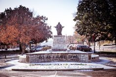 """""""Do As I Have Done"""" - our statue in the center of campus. Trevecca University, Nashville, Tennessee."""