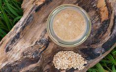 Tahini casero con aceite de coco