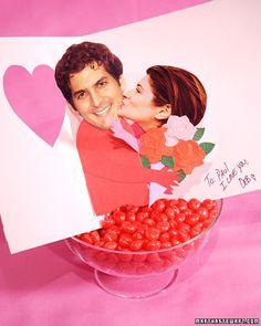 DIY pop-up Valentine card. Now that's cute.