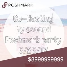 Poshmark Party Host I am hosting my second Poshmark party on 6/26/17. I am looking for potential host picks. Please leave me a comment to check out your closet! 🤗 Other