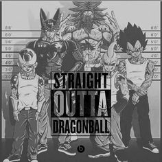 DragonBallZ Frieza Cell KidBuu Vegeta Broly Straight Outta
