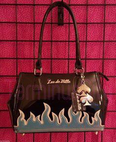 #LUXDEVILLE #DIABLADARLING #TOTE #HANDBAG #Purse #Bag #Rockabilly #Pinup #Hotrod #Flame #LuxDeVille #Handbag