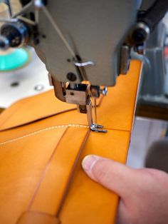 A glimpse into the workshop of a Japanese leather carry brand, Herz, a company founded on handmaking non-mass produced principles, making-to-order leather bags and accessories.