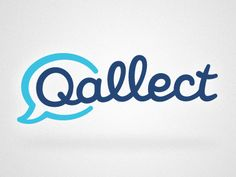 Qallect logo. Love the informal, inviting vibe.