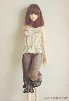 Jiajiadoll cream bowknot vest fits Momoko Or Misaki by jiajiadoll