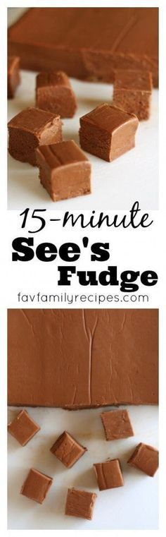 This See's Fudge Recipe is the easiest, most foolproof fudge recipe ever! It never gets grainy and comes out perfectly every time. via @favfamilyrecipz