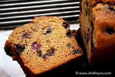 Banana Blueberry breakfast bread - eggless.  Always looking to try an eggless baked recipe.  This sounds yummy.  Maybe the texture is like a biscuit, since a biscuit has no eggs?
