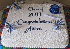 Graduation Cake for guy or boy from mary had a little cookie