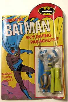 batman_parachutistahi Batman 1966, Batman Art, Batman And Superman, Vintage Toys 1960s, Retro Toys, 1960s Toys, Batman Tv Show, Batman Tv Series, Batman History