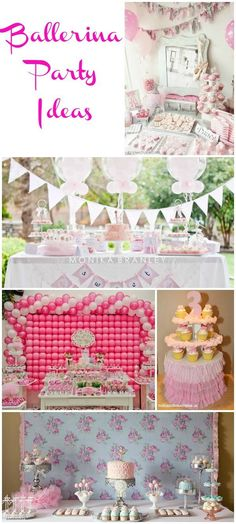 Ballerina Birthday Ideas - a collection of pretty & creative ballerina birthday party ideas by party designers and talented party loving mommas.
