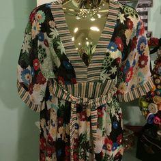 Sheer Floral Monteau Dress