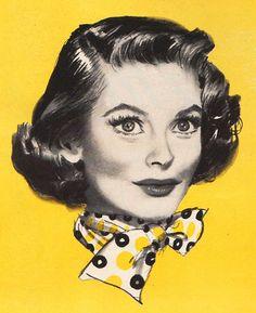Joanne Dru by Jon Whitcomb Vintage Ads, Vintage Images, Vintage Posters, Estilo Pin Up, Vintage Housewife, Arte Pop, Pin Up Art, Vintage Hairstyles, 90s Hairstyles