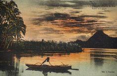 * Vintage Postcard, Tahiti