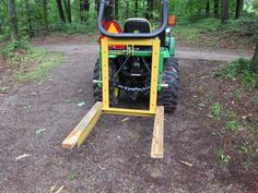 This page explains how to make your own Tractor Three-Point Hitch Carry-all Tractor Drawbar, Tractor Accessories, Tractor Attachments, Compact Tractors, Tractor Supplies, Wood Screws, Build Your Own, Carry On, Outdoor Power Equipment