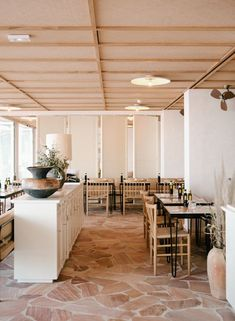 hotel les roches rouges Design Café, Cafe Design, Commercial Interior Design, Commercial Interiors, Cafe Restaurant, Restaurant Design, Restaurant Concept, Cafe Bar, Architectural Digest