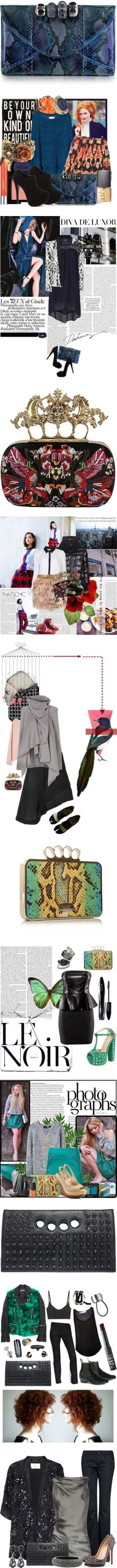 """""""One in Hand: The Knuckle Clutch"""" by polyvore-editorial ❤ liked on Polyvore"""