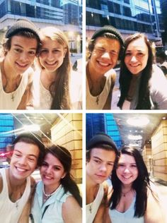 Harry with fans in Boston.. awww cupcake harry ♡  << why am i not in boston. i am so freaking close.