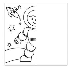 Finish the drawing symmetry worksheets - Symmetry Worksheets, Symmetry Activities, Space Activities, Drawing Activities, Preschool Worksheets, Drawing Lessons For Kids, Art Drawings For Kids, Outer Space Theme, Space Drawings