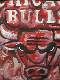 Chicago Bulls Painting by Justin Patten by stormstriker on Etsy