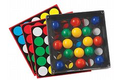 """Build critical thinking skills, problem-solving abilities, and pattern recognition skills.  Foster visual perception skills, spatial relationships, and hand-eye coordination. Develop ability to plan strategies. Can be played alone or with others.  Develop patience and frustration tolerance. Customize game with blank pattern cards. Increase ability to focus with """"fidget-friendly"""" game.    A great alternative to other """"finger-friendly"""" device $19.50  #autism"""