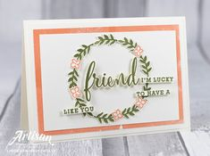 Stampin with Liz Design: Share What You Love - Stampin' Up! Artisan Blog Hop Stamping Up, Stampin Up Cards, Card Making, Artisan, Paper Crafts, Seasons, Crafty, Love, Frame