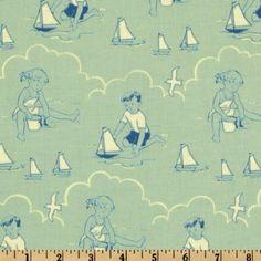 44'' Wide Seaside Beach Babies Blue Fabric By The Yard by Christensen Wholesale, http://www.amazon.com/dp/B00ABWI6TY/ref=cm_sw_r_pi_dp_U9Shrb000GYNT