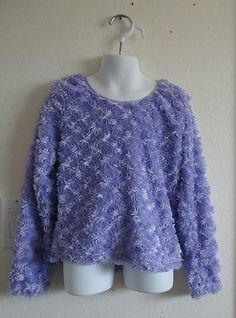 Size 6/6X  Girls ~ *Faded Glory - Lavendar Fuzzy Long Sleeve Sweater BTS