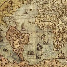 O mundo já foi bem menor. Post sobre mapas, hoje no blog