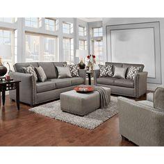 Sofa Trendz Brice Grey Chenille Sofa And Loveseat (Set Of 2) (Brice 2